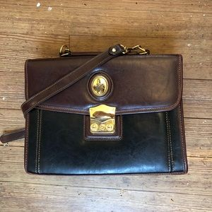 Vintage Box Purse With Gold Embellishment